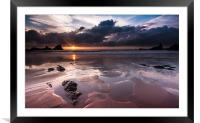Hartland Sunset, Framed Mounted Print