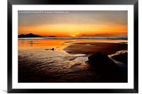'Sunset Beach', Framed Mounted Print