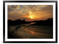 at the end of the day 2, Framed Mounted Print