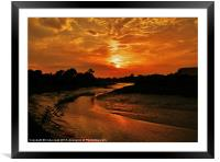 red sky at night......., Framed Mounted Print