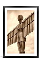 Angel of the North, Framed Mounted Print