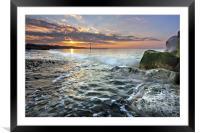 Avon Beach, Framed Mounted Print