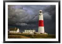 Stormy Weather at Portland Bill, Framed Mounted Print