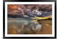 Mudeford Quay to Christchurch Harbour, Framed Mounted Print
