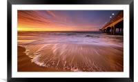 Colourful Pier Sunrise, Framed Mounted Print