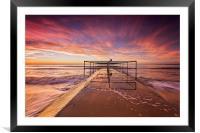 Golden light beach, Framed Mounted Print