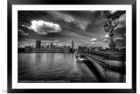 Palace Of Westminster - London, England, Framed Mounted Print