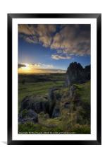 Harborough Rocks 1.0, Framed Mounted Print