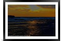 BEACH SUN REFLECTION, Framed Mounted Print