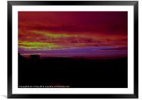 GARRABOST SCORCHING SUNSET 3, Framed Mounted Print
