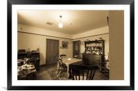 Dining room, Framed Mounted Print