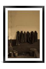 Coat rack, Framed Mounted Print