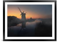 Norfolk Broads, Framed Mounted Print