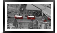 London Buses from above, Framed Mounted Print