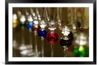Murano Glasses in a row, Framed Mounted Print