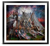 The viking camp, Framed Mounted Print