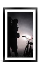 Secret Kiss, Framed Mounted Print