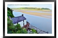 Dylan Thomas's Boathouse, Framed Mounted Print