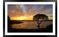 Sunset at Kenfig Pool, Framed Mounted Print