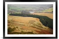RESERVOIR AND THE MOORS, Framed Mounted Print