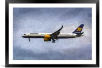 Icelandair Boeing 757 Art, Framed Mounted Print