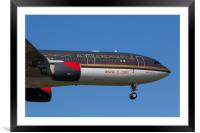 Royal Jordanian Airlines Airbus A330, Framed Mounted Print