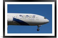El Al Boeing 777, Framed Mounted Print