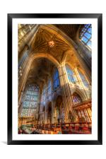 Bath Abbey Architecture , Framed Mounted Print