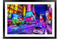 Times Square Van Gogh , Framed Mounted Print