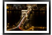 Budapest Chain Bridge, Framed Mounted Print