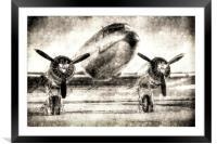 Vintage Aviation, Framed Mounted Print