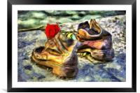 Shoes On The Danube Van Gogh, Framed Mounted Print