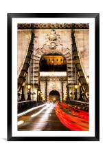 Budapest Chain Bridge, Framed Mounted Print