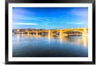 Margaret Bridge Budapest, Framed Mounted Print