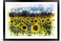 Sunflowers Van Goth, Framed Mounted Print
