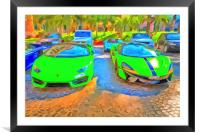Lamborghini McLaren Pop Art, Framed Mounted Print