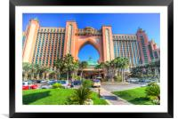 Atlantis Palm Hotel Dubai, Framed Mounted Print