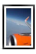 Flying On The Edge Of Heaven, Framed Mounted Print