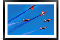 red arrows display team at seaburn air show 2014, Framed Mounted Print
