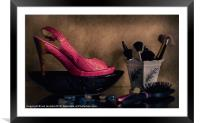 IT'S ALWAYS ABOUT THE SHOES, Framed Mounted Print