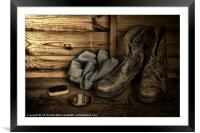 OLD BOOTS, Framed Mounted Print