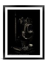 BROWNIE IN SHADOWS, Framed Mounted Print