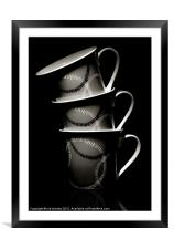 THREE HANDLES, Framed Mounted Print