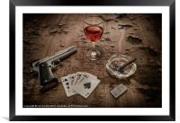 THE GANGSTERS HAND, Framed Mounted Print