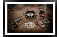 RUSSIAN ROULETTE, Framed Mounted Print