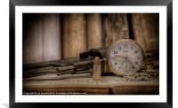 TIME PEACE, Framed Mounted Print