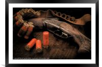TWIN BARREL AND BRASS, Framed Mounted Print