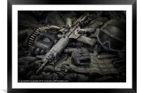 LOCK AND LOAD, Framed Mounted Print