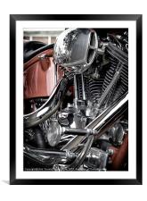 REFLECTIVE CHROME, Framed Mounted Print