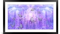 butterflies and flowers, Framed Mounted Print